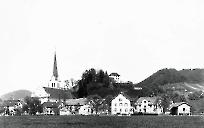 Usserdorf 1900 Blick vom Bahnhof aus
