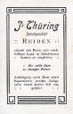 Handlung Jakob Thüring 1910